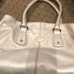 Tods pearlized tote